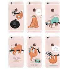 m445 cute sloth black soft tpu silicone case cover for apple iphone 11 pro xr xs max x 8 7 6 6s plus 5 5s 5g se