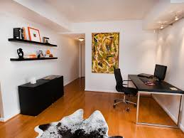 home office with white walls and black furniture black and white home office