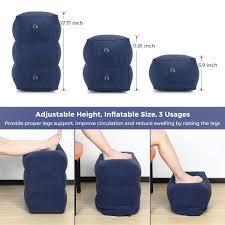 <b>Travel Inflatable Foot</b> Rest Pillow Adjustable Height <b>Portable Leg</b> ...