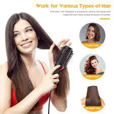 One step <b>Professional</b> hair dryer Brush 2In 1 <b>Hair Straightener</b> ...