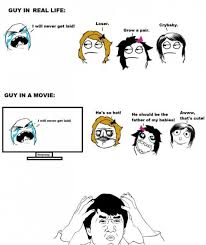 Funny Memes - Guys in real life / Guys in movies via Relatably.com