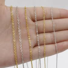 <b>5pcs 316L Stainless Steel</b> 1 1.5 2mm Rolo Link Chain Necklace ...