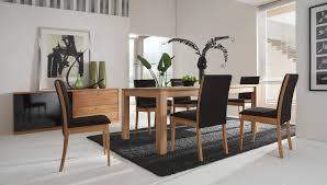 Contemporary Black Dining Room Sets Minimalist Designed Dining Space With Modern Dining Room Sets