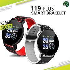 IP67 Waterproof <b>119 Plus Smart Bracelet</b> Heart Rate Watch Smart ...