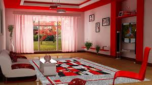 Red Wall Living Room Decorating Amazing Of Cool Black And Red Living Room Decorating Idea 958