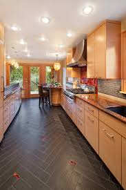 grant park kitchen remodel example of a trendy galley enclosed kitchen design in portland with an anatomy eat kitchen