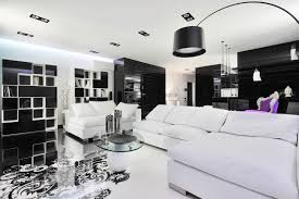 view in gallery amazing black and white living room with lone purple chair in the backdrop black white interior design