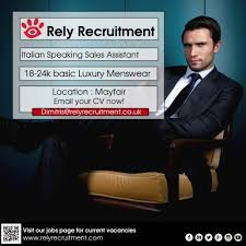 italian speaking luxury retail s assistant rely recruitment share this entry