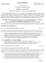 information technology  it   amp  project manager resumefree resume templates