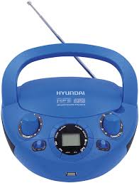 Купить магнитофон <b>Hyundai Hyundai H</b>-<b>PCD220</b>, Blue <b>магнитола</b> ...
