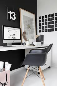 black and white office with individual calendar day chalkboard decals beautiful home office chalkboard