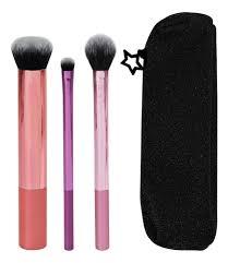 Купить набор для макияжа shine <b>bright</b> (кисти + <b>косметичка</b>) Real ...