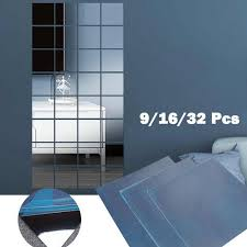 Home, Furniture & DIY 4-20Pcs <b>Frameless Mirror Tiles Glass</b> ...