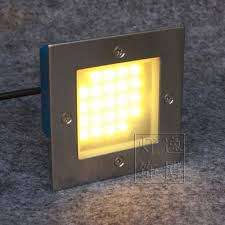 105x105mm stainless steel outdoor led deck stairs led step lighting square recessed floor lamp 2w banner5 stair lighting