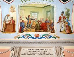 Image result for 1789 - The first Congress of the United States met in New York and declared that the U.S. Constitution was in effect.