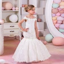 <b>2019 New Mermaid Flower</b> Girl Dress Kids Birthday Party First ...