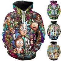 Women/Men's Fashion <b>Rick</b> and Morty <b>3D</b> Printing Cartoon <b>Hoodie</b> ...