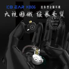 <b>Kbear Kb 06</b> Six Unit Circle Iron Earphone <b>Metal</b> Cavity <b>Hifi</b> Sport In ...