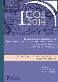 Theory and Methodology. Socio-onomastics
