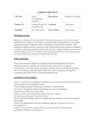 assistant manager job description resume cipanewsletter catering job description resume template