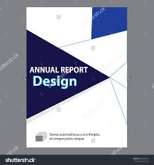 blue annual report title page sample stock vector 435919054 blue annual report title page sample cover page design templates in a4 vector