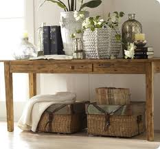 Potterybarnkeatonconsoletable How To Decorate A Console Table