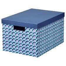 <b>TJENA ТЬЕНА</b> Коробка с крышкой - синий/разноцветный - <b>IKEA</b>