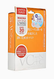 Набор <b>масок для лица</b> Japan Gals Маска <b>Витамин</b> С + Нано ...