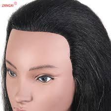 <b>Hot Sale 100</b>% <b>real</b> black hair african training head for paint bleach ...