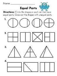 1st grade math worksheets slide show - Worksheets and Activities ...Equal parts or not equal parts worksheet (Fun with Fractions First Grade Common Core Packet