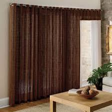 door ivory curtains