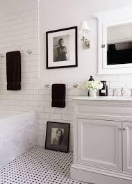 white bathroom floor: these black and white floors from our archive are classic and playful at the same time