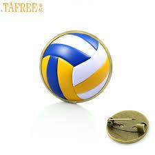 <b>TAFREE high quality</b> handmade beach volleyball glass photo badge ...