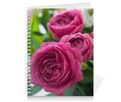 """Тетрадь на пружине """"<b>Розовые розы</b>"""" #2671996 от d_ari.design ..."""