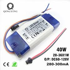<b>1pcs</b> 20W <b>30W</b> 40W LED Driver 20 36x1W 300mA DC60 120V High ...
