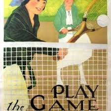 Original Health and Fitness Tennis <b>Poster</b> Play the <b>Game</b> - VINTAGE ...