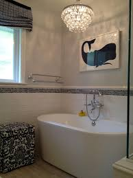 glass shower partition bathroom transitional with bubble glass chandelier freestanding bathroom lighting chandelier