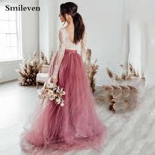 Dusty Blue Floral <b>Wedding</b> Dress With Tulle Skirt V neck <b>Bridal</b> ...