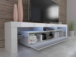 <b>TV Cabinet</b> Solo Lowboard TV Board 190 cm Floor <b>Unit with LED</b> TV ...