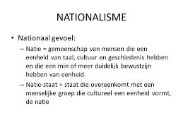 Afbeeldingsresultaat voor nationalisme resultaat van geen democratie