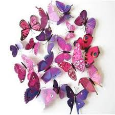 Butterflies Shaped Wall Stickers | Arts & Crafts | Butterfly bathroom ...