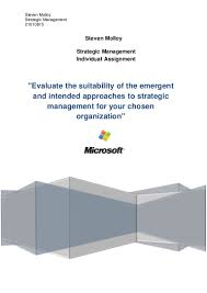 strategic management individual assignment