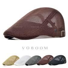 <b>Summer Men's Breathable mesh</b> Ivy Cap Beret Newsboy hat Cap ...