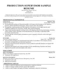 manufacturing resume sample manufacturing  seangarrette comanufacturing supervisor resume example production supervisor sample resume large