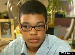 "Jordan Shumate, a ninth-grader at George C. Marshall High School in Falls Church, Va., says he was reading aloud Langston Hughes' ""Ballad of the Landlord"" ... - s-HIGH-SCHOOL-STUDENT-POEM-BLACKER-large"