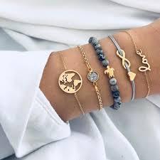 <b>5 Pcs Bohemian Turtle</b> Charm Bracelet <b>Set</b> – Ashley Jewels