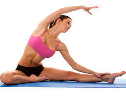 Woman Doing Left Side Stretch