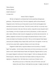 gilgamesh paper outline   gilgamesh  insert quote from page     pages epic of gilgamesh essay