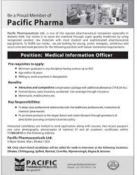 pacific pharmaceuticals job circular bd jobs times company organization institution pacific pharmaceuticals