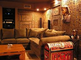 themed family rooms interior home theater: egyptian tomb home theater photos  egyptian tomb home theater photos